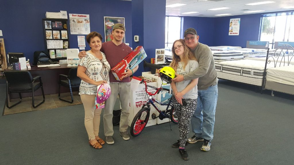 Toys for Tots donated at Best Mattress in Las Vegas