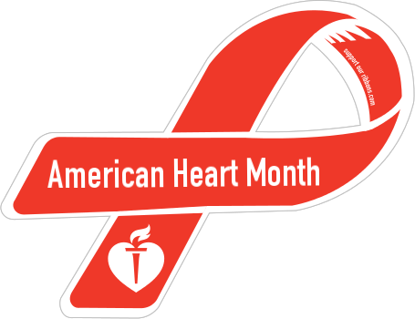 American Heart Month Ribbon