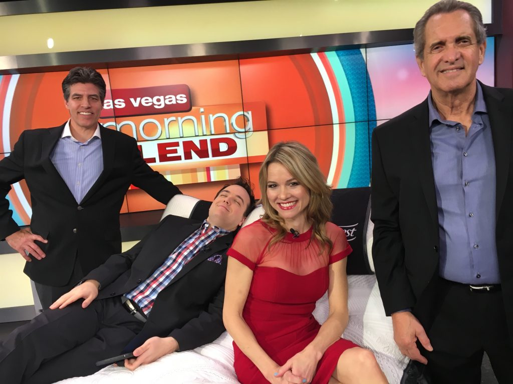 Dave Mizrahi on Morning Blend in Las Vegas promoting the new Beautyrest Black