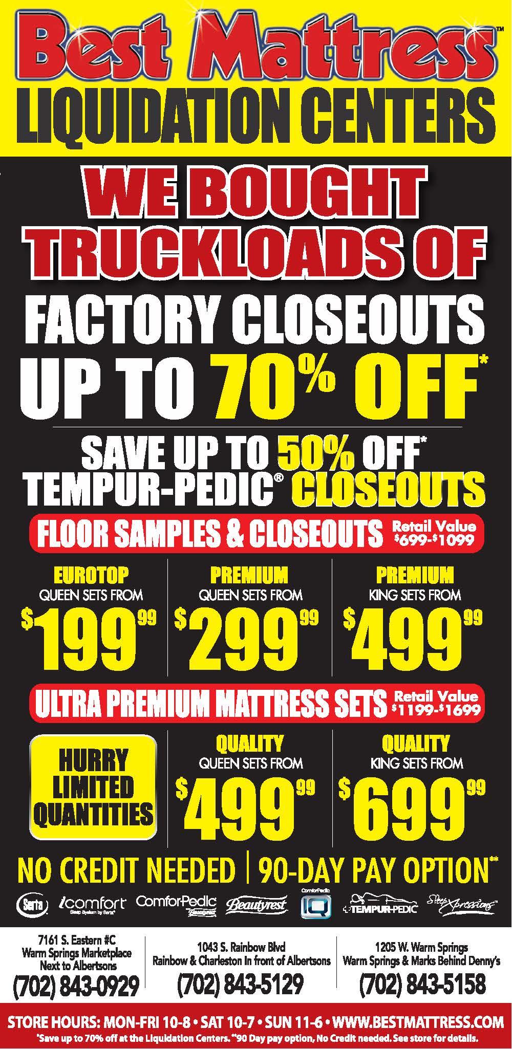 Best Mattress Liquidation Center Ad
