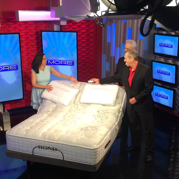 Our mattress and frame on The MORE Show