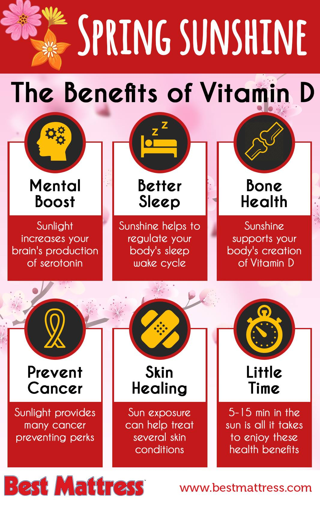 Spring Sunshine Benefits Of Vitamin D Best Mattress