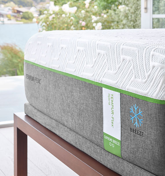 Side view of the Tempur-Flex Supreme Breeze Mattress