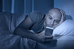 Using your cellphone before bed can lead to bad sleep during the night.