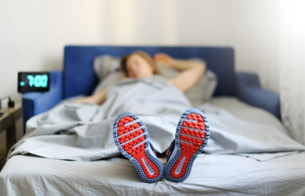 No Physical activity before bed to have the best sleep possible.