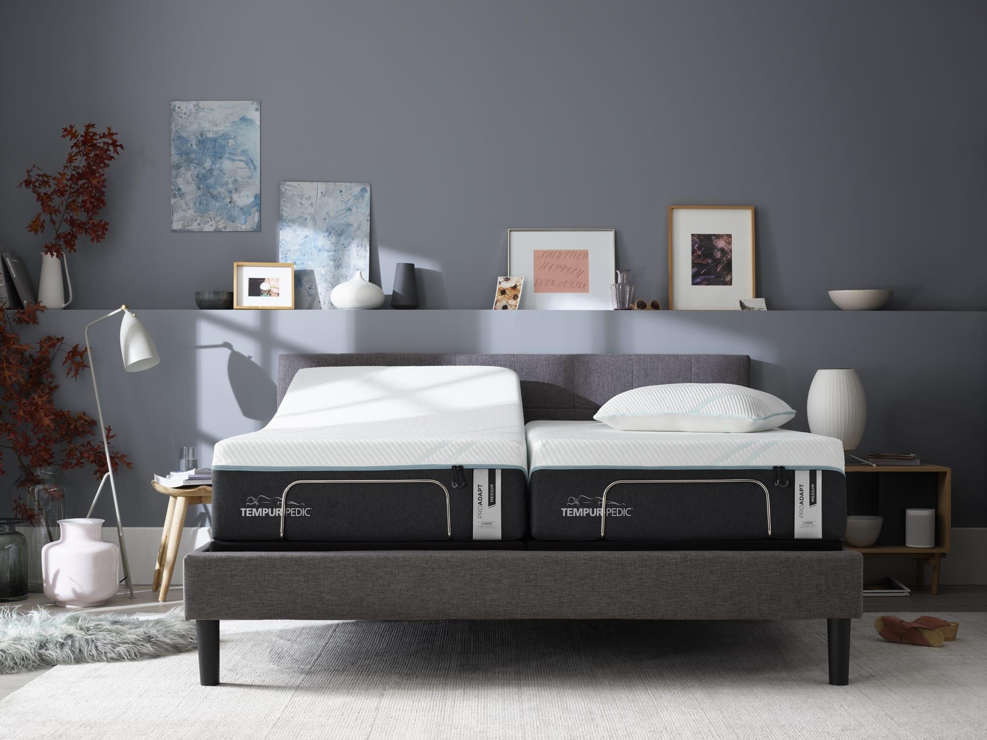 Tempur-Pedic Adjustable bed in a modern bedroom
