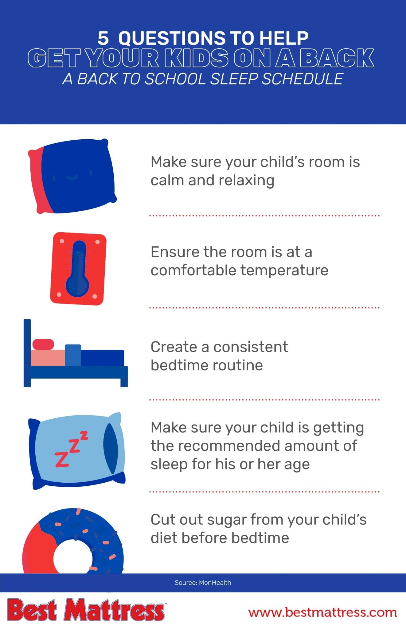 5 Questions To Help Get Your Kids On A Back To Back School Sleep Schedule From Best Mattress in Las Vegas & St. George, Utah