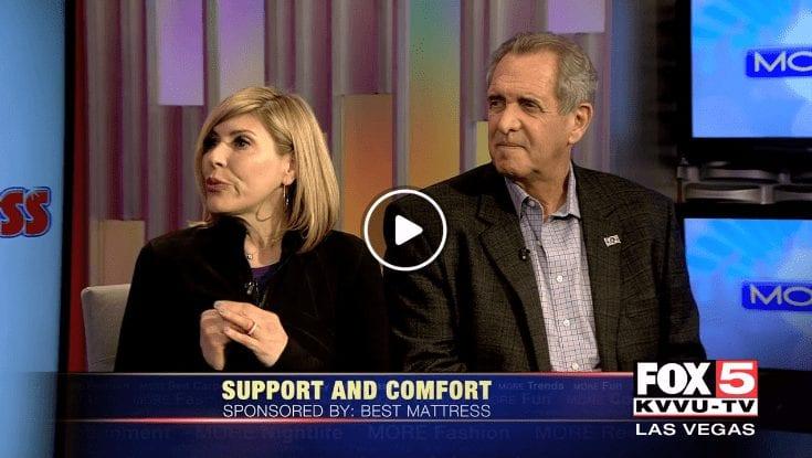 Best Mattress President David Mizrahi with Dr. Jennifer Marone discuss how to get a better night sleep on Fox 5 in Las Vegas