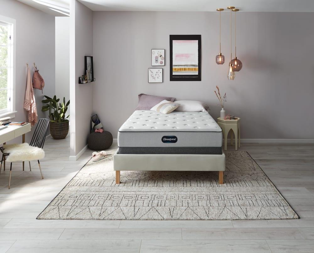Beautyrest Mattress in spacious minimalist bedroom