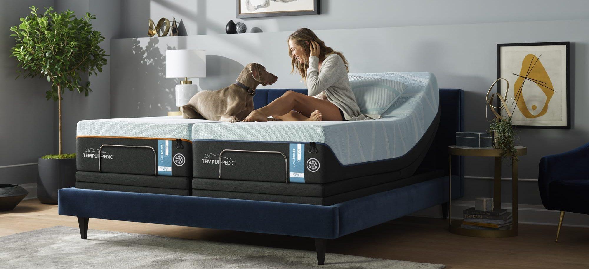 Tempur-Pedic LUXEbreeze° king bed adjustable base