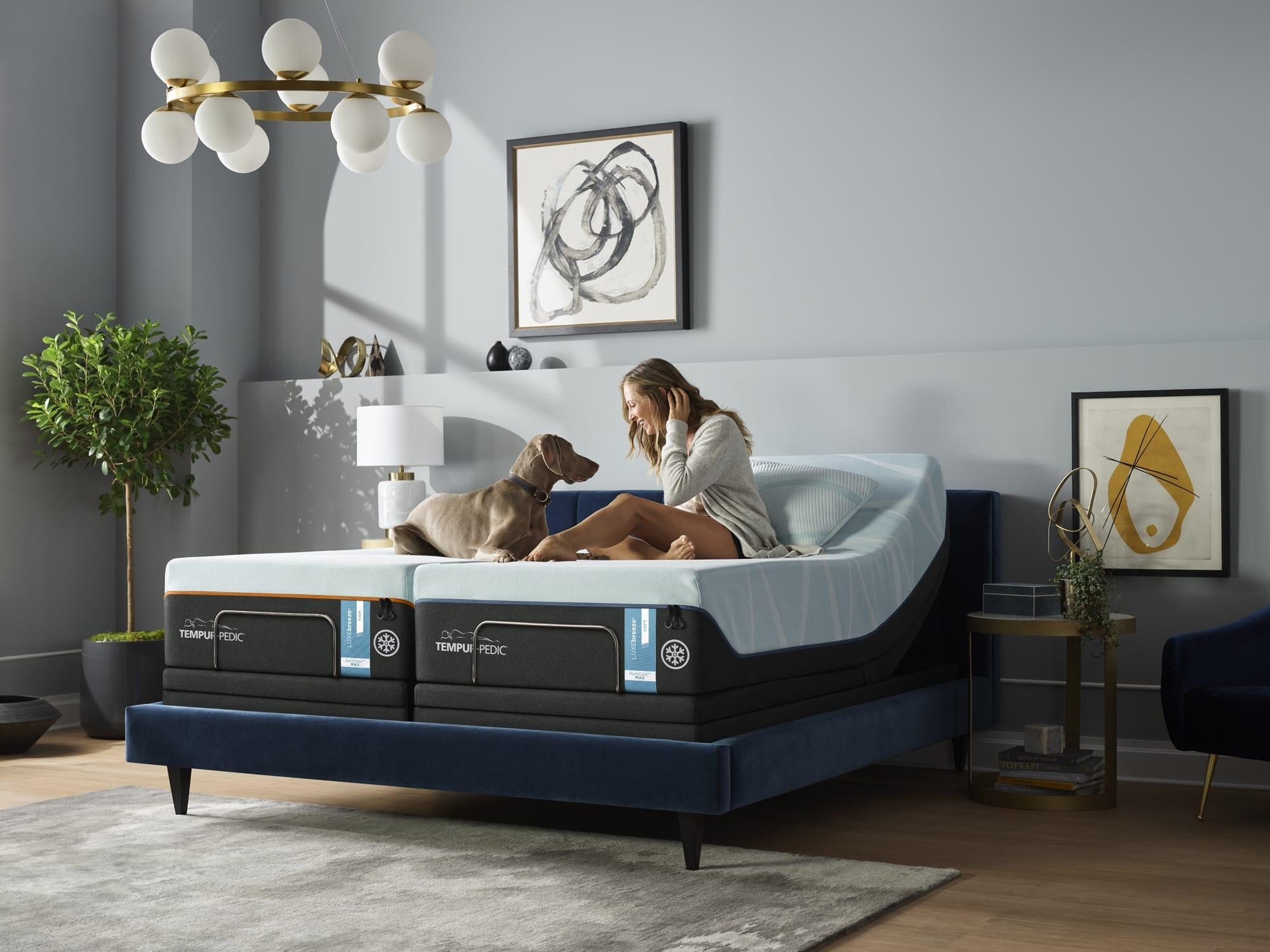 A new Tempur-Pedic mattress and adjustable bed.