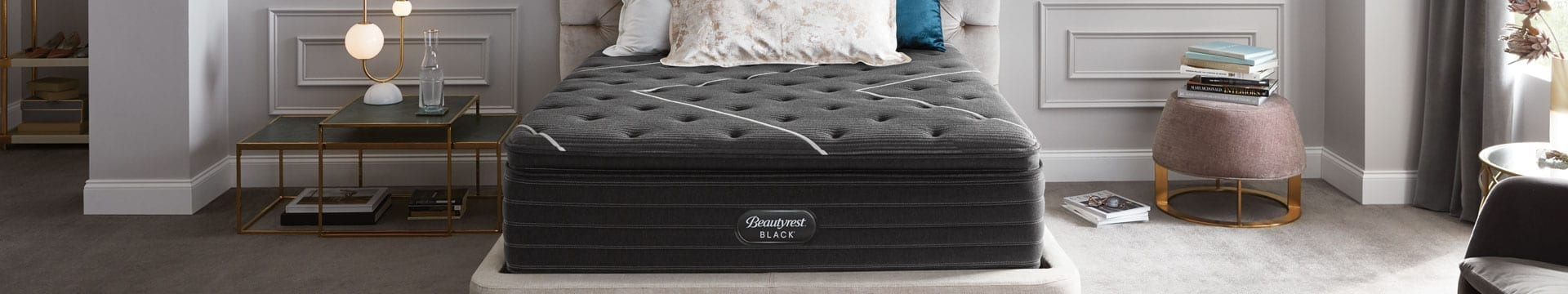 Beautyrest Black mattress in a designer bedroom