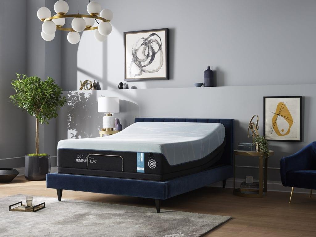 Tempur-LUXEBreeze Soft Queen mattress in a bedroom