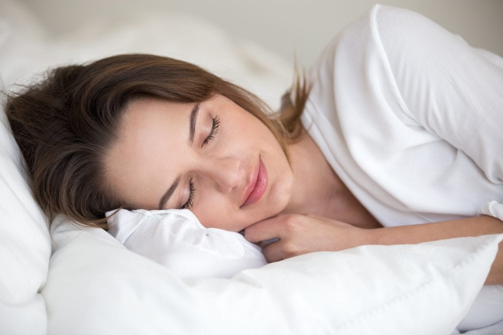 Women getting good night's sleep