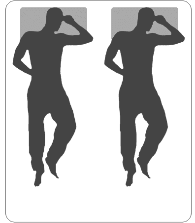 California king-size mattress silhouette