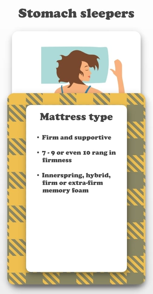 Best Mattress for Stomach Sleepers infographic